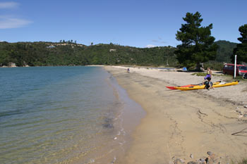 Marahau beach, great place to kayak into the Abel Tasman National Park from