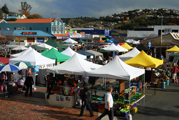 Nelson Saturday market, great for arts and crafts