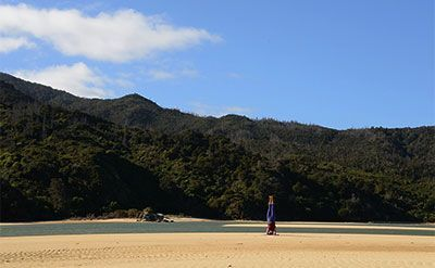 Yoga near the Abel Tasman